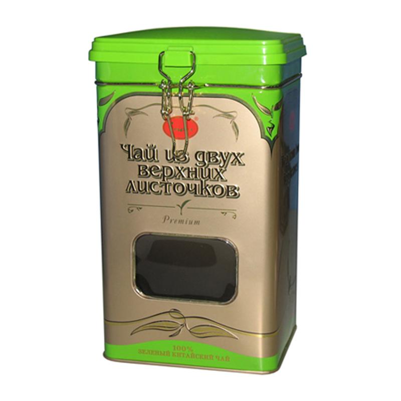 方形密封式绿茶茶叶马口铁罐定制