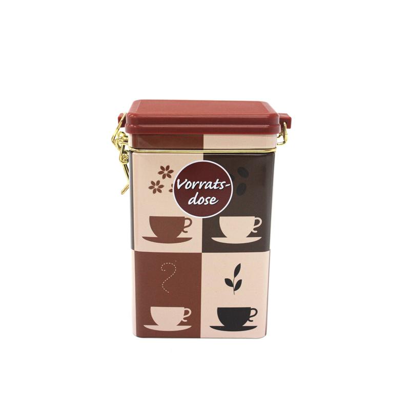 高档方形咖啡铁盒定制工厂