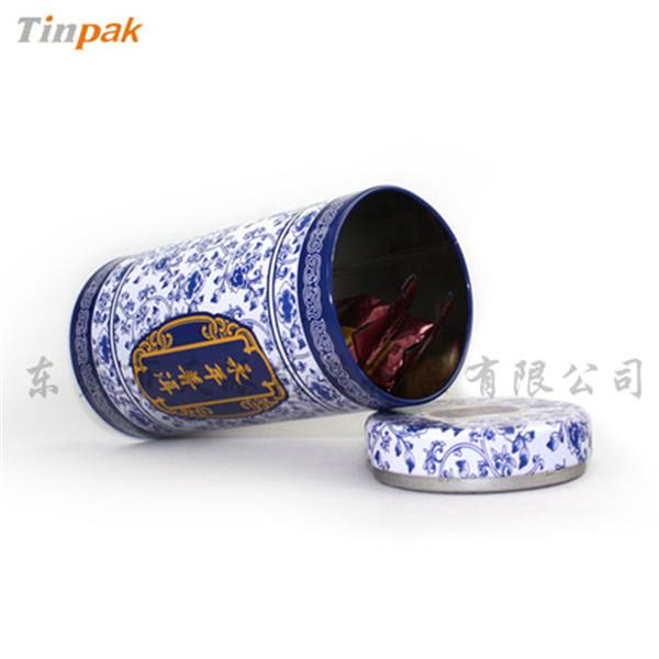 霍山黄芽茶叶罐|霍山黄芽青花铁罐定制厂家
