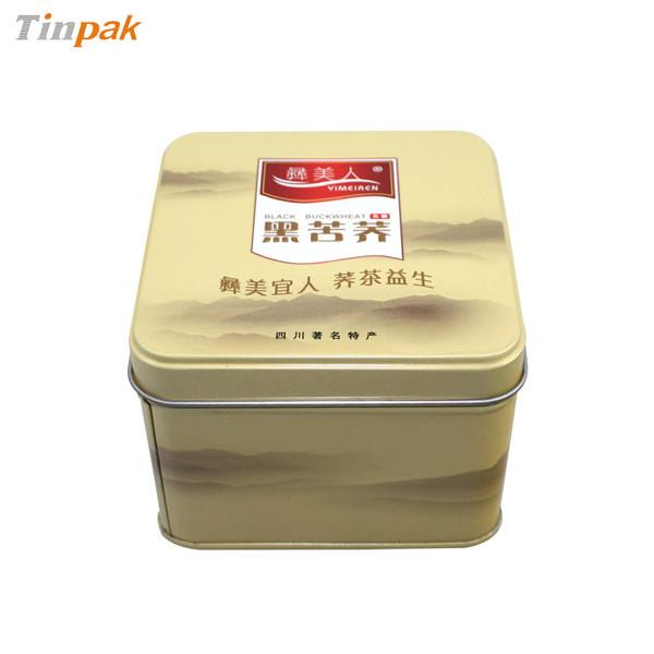 正方形保健茶茶叶马口铁盒印铁制罐厂