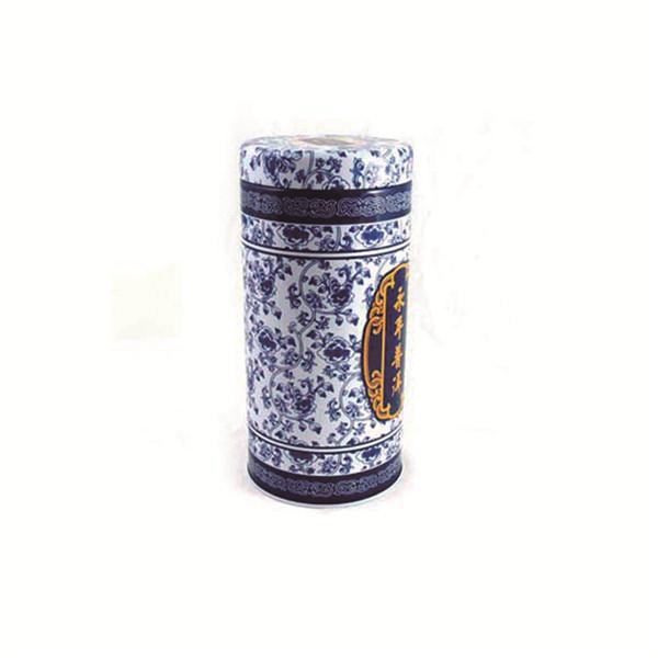 圆形双盖式普洱茶叶包装铁盒制罐厂