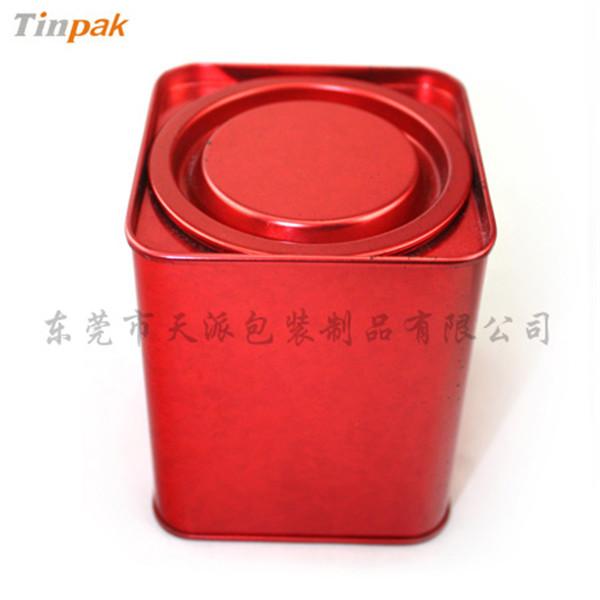 迷你正方形撬盖式红茶茶叶铁盒