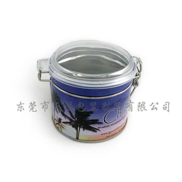 透明塑胶盖减肥胶囊包装铁盒制罐工厂