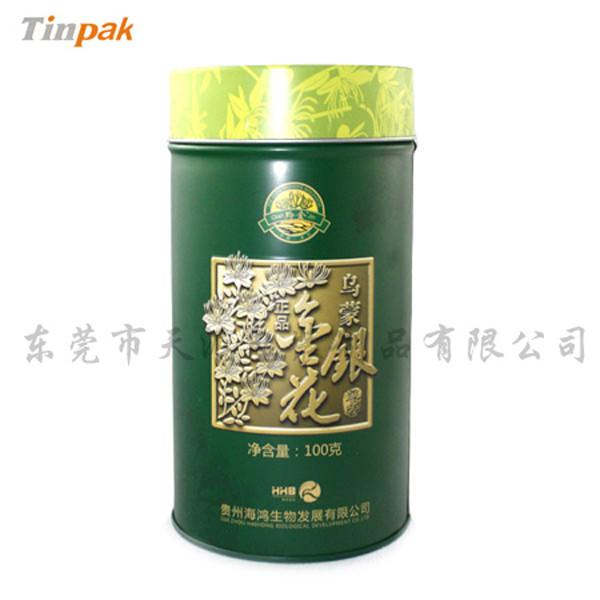圆筒马口铁花茶茶叶盒印铁制罐厂家
