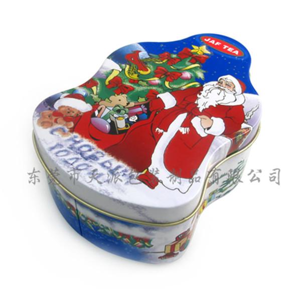 圣诞节礼品铁盒|圣诞节老人造型茶叶罐
