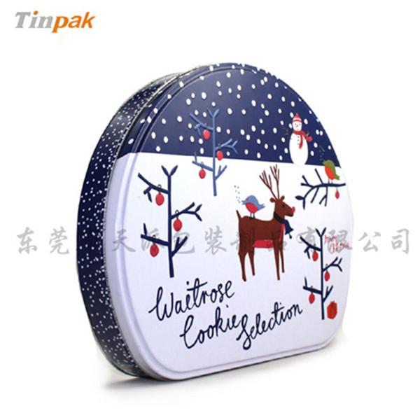 圣诞帽包装铁盒|圣诞帽创意星形铁盒