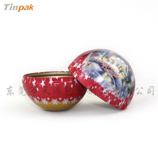 圣诞球巧克力铁罐