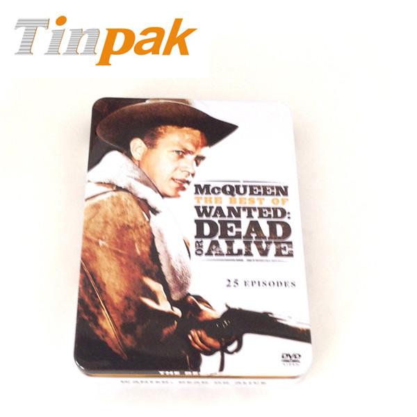 枪战DVD包装铁盒|DVD收纳高档马口铁盒