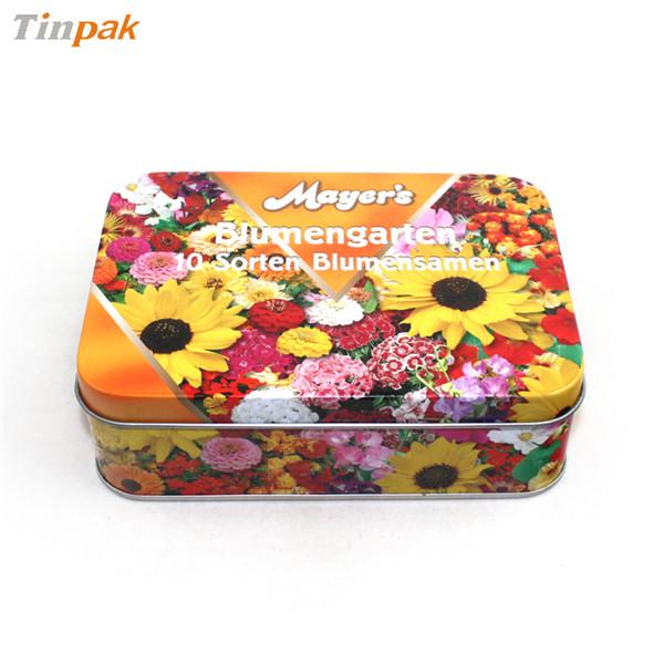 精装方形花茶茶叶马口铁盒制罐工厂