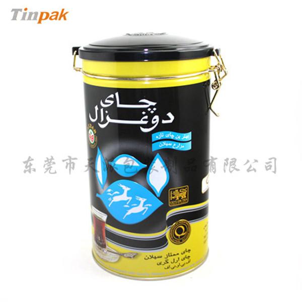 密气式塑胶盖保健茶包装铁盒制罐厂