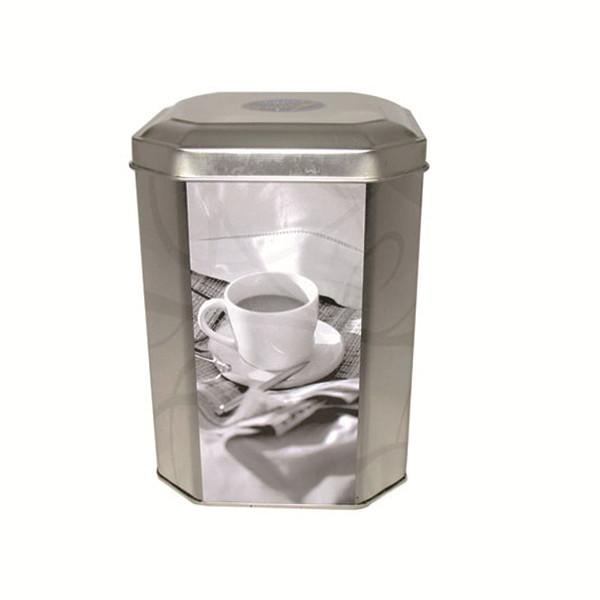 八角形咖啡铁盒定制工厂