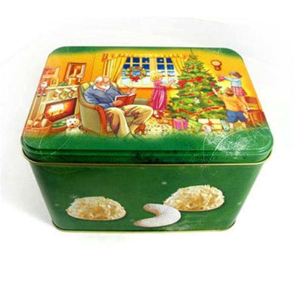 方形翻盖式盐焗腰果铁盒定制|高档彩印腰果铁皮盒子加工