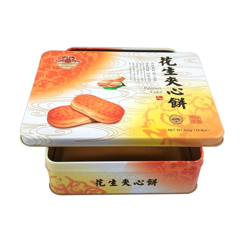 广东厂家生产定制高档方形饼干马口铁罐  饼干金属罐