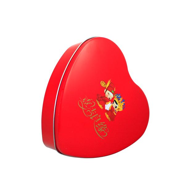 爱心形状礼品包装铁盒 喜糖礼品包装盒 婚宴礼品包装铁皮盒定制
