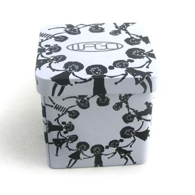 内扣式三片正方形减肥药铁盒定制|厂家直销减肥药铁盒
