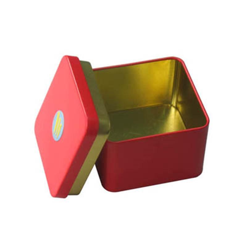 正方形密封式茶叶铁皮盒子定制厂家
