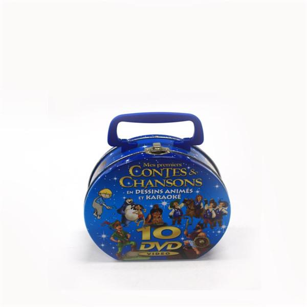 半圆形手提DVD光盘铁罐生产工厂