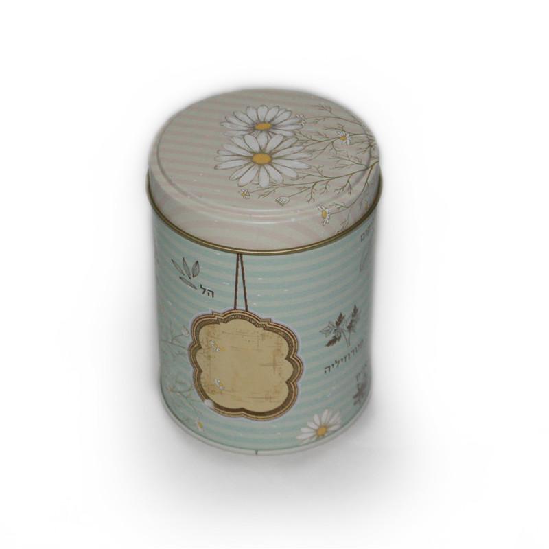 高档圆形花茶茶叶包装铁盒制罐厂家