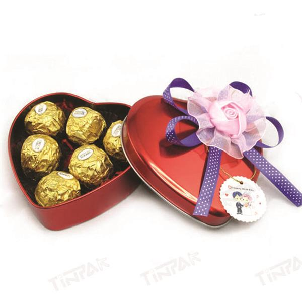 定制情人节马口铁巧克力包装礼盒