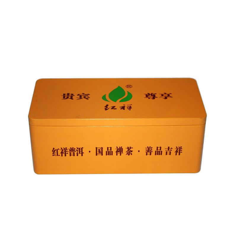 广东厂家生产高档方形普洱茶叶铁罐