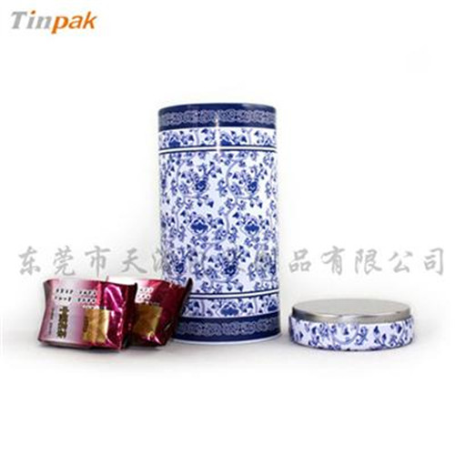 青花瓷茶叶铁盒