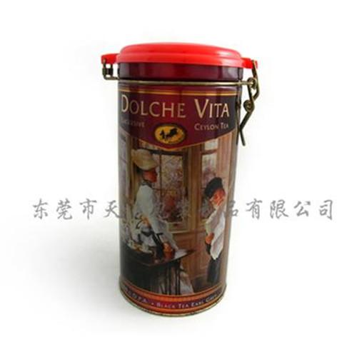 圆形马口铁红茶茶叶罐制罐厂