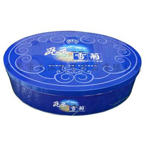 大号椭圆形花茶包装铁盒制罐工厂