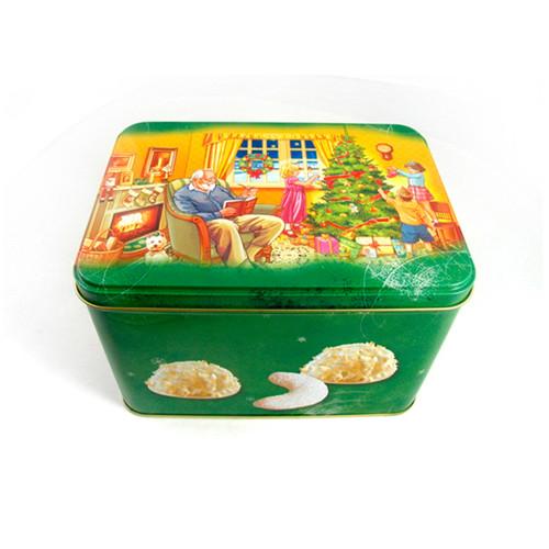 丹麦风味饼干铁盒 饼干铁盒定制