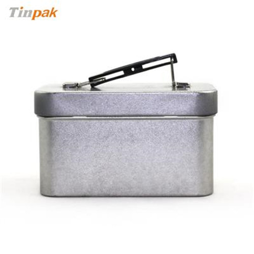 方形带手提式白茶茶叶包装铁盒厂家