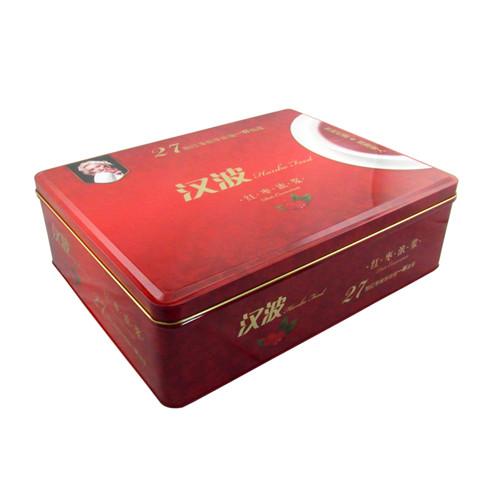 内卷边大号方形红枣马口铁盒制罐工厂