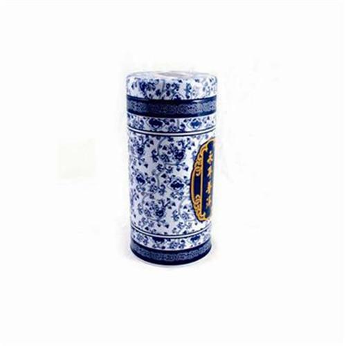 青花瓷茶叶铁罐