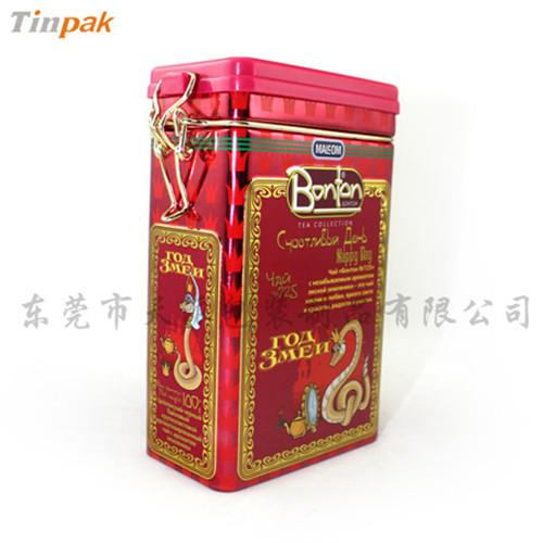 腊梅花茶铁罐|方形梅花茶金属罐