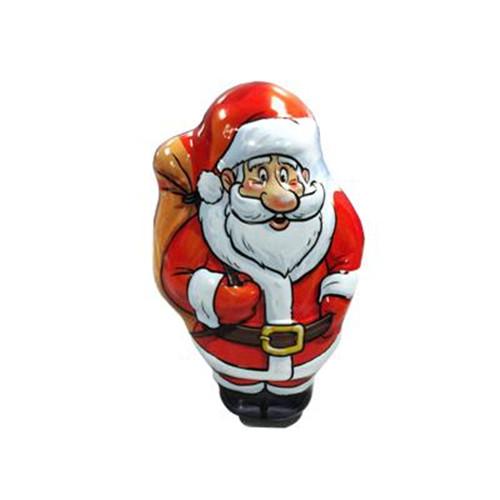圣诞老人背钱袋铁罐|圣诞节礼品铁盒