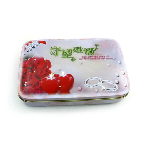 老谭梳子铁盒|桃木梳包装铁盒