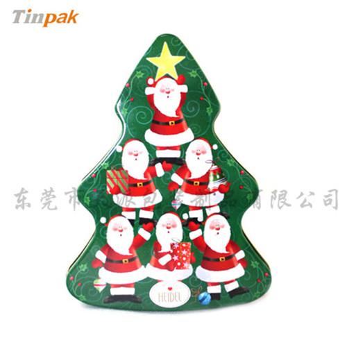 圣诞树铁盒子|圣诞小挂饰金属盒