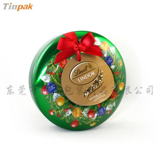 圣诞节甜甜圈糖果铁盒|定制圣诞铁盒厂家