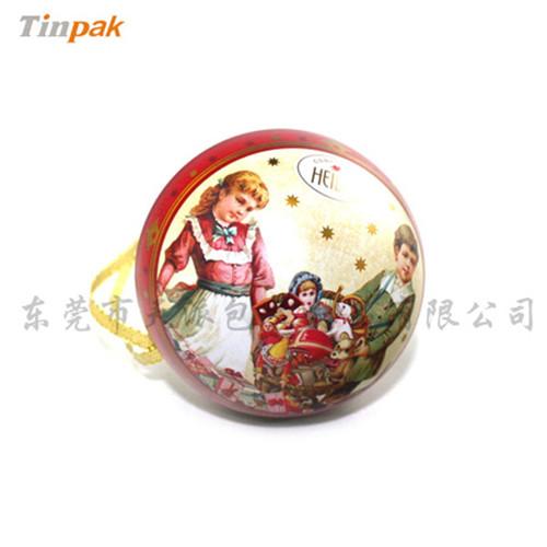 球形铁罐子|挂饰球铁盒子厂家