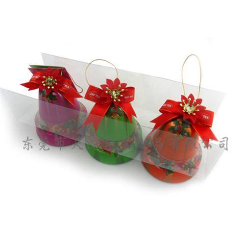 圣诞铃铛挂饰铁盒 牛奶糖铃铛铁罐