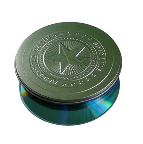 精装圆形CD铁罐子