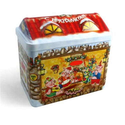 圣诞屋子储物铁罐
