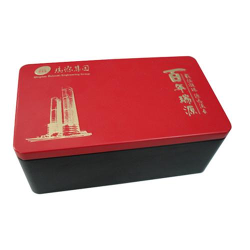 双盖密封式长方形红枣包装铁盒厂家