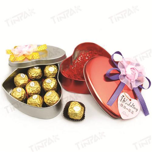 生产定制心形巧克力马口铁铁盒