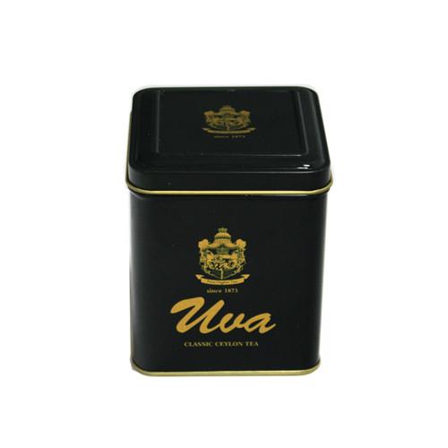带铰链绿茶茶叶铁盒订制工厂