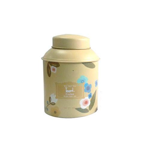 圆形花茶茶叶铁罐子定做