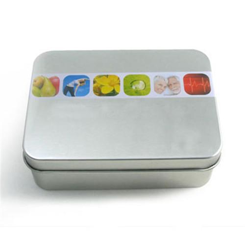 长方形砂光铁减肥胶囊马口铁盒定制