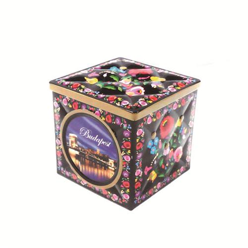 广州工厂大量批发定制方形带雕刻糖果铁盒