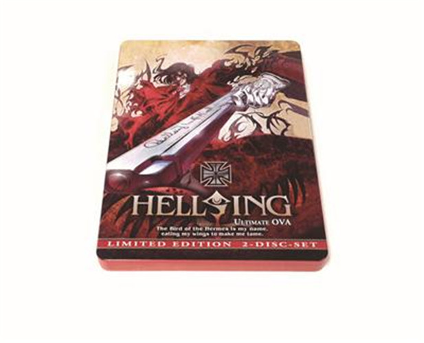 日本动漫光碟包装铁盒|《地狱之歌》DVD铁盒