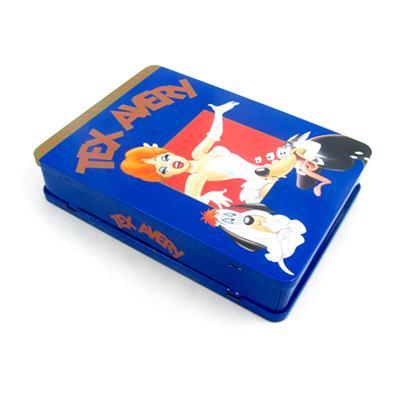 长方形美国动画片DVD铁盒
