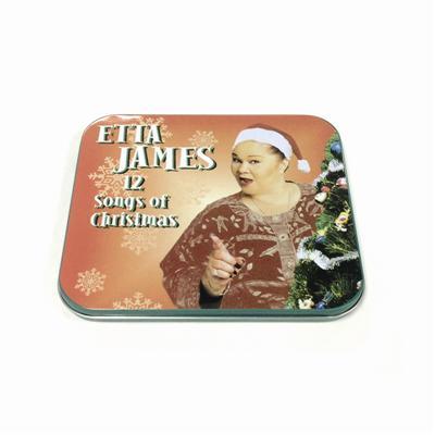长方形圣诞节主题音乐CD铁盒
