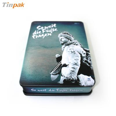 长方形法国战争电影DVD铁盒马口铁